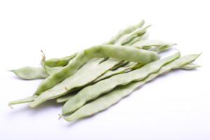 A pile of organic Italian flat beans.