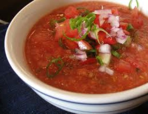 Heirloom Tomato Gazpacho!