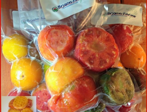 Flash-Frozen, Cored, Whole Heirloom Tomatoes!
